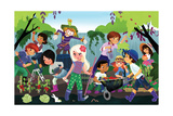 How Your Garden Grows - Jack & Jill Giclee Print by Tatevik Avakyan