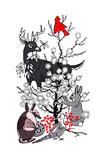 The Thornbush Christmas Tree - Jack & Jill Giclee Print