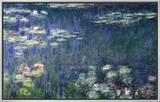 Waterlilies: Green Reflections, 1914-18 (Left Section) Framed Canvas Print by Claude Monet