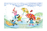 Umbrella Dance - Turtle Giclee Print by Marsha Winborn