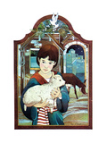 Winter Lamb - Child Life Giclee Print by Len Ebert