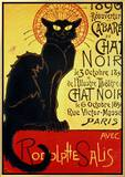 Reopening of the Chat Noir Cabaret, 1896 Framed Canvas Print by Théophile Alexandre Steinlen
