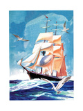 Clippership - Child Life Giclee Print by Henry Pitz