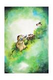 Bird-Brained - Jack & Jill Giclee Print by Edith Osborn Corbett