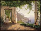 Amalfi Cappuccini Framed Canvas Print by Carl Frederic Aagaard