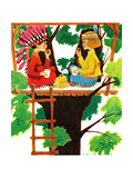 Treehouse Lunch - Jack & Jill Giclee Print by Ruth and Charles Newton