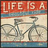 Beautiful Ride I Framed Canvas Print by  Pela