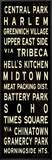 Central Park Weathered Sign Framed Canvas Print