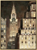 Manhattan Aglow Framed Canvas Print by Paulo Romero
