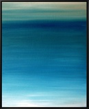 Ocean blue Framed Canvas Print by Kenny Primmer
