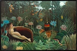 The Dream, 1910 Framed Canvas Print by Henri Rousseau