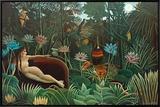The Dream, 1910 額入りキャンバスプリント : アンリ・ルソー
