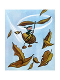 Riding the Wind - Jack & Jill Giclee Print by Leo Politi
