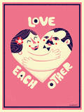 Love Each Other Giclee Print by Mike Dornseif