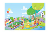 Come Celebrate - Humpty Dumpty Giclee Print by Robin Boyer
