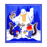 Squirrel Meeting - Child Life Giclee Print by Marie A. Lawson