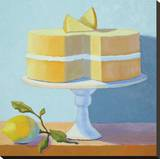 Double Layer Lemon Cake Stretched Canvas Print by Patricia Doherty