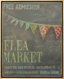 Country Flea Market Framed Canvas Print by Mandy Lynne