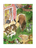 Old Macdonald Had a Farm - Playmate Giclee Print by Valeri Gorbachev