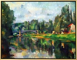 Bridge Over Ther Marne at Creteil, 1888 Framed Canvas Print by Paul Cézanne