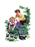 Cuddly Skunk - Child Life Giclee Print by Keith Ward