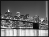 NY - Towers and Spot Lights Framed Canvas Print by Jerry Driendl