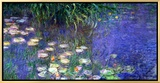Waterlilies (Les Nympheas), Study of the Morning Water Impressão em tela emoldurada por Claude Monet