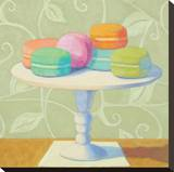 Mixed Macarons Stretched Canvas Print by Patricia Doherty