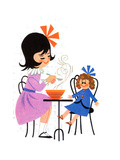 Good and Hot - Jack & Jill Giclee Print by Audrey Walters