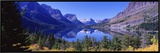 St Mary Lake Glacier National Park, MT Framed Canvas Print by  Panoramic Images