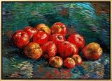 Apples Framed Canvas Print by Vincent van Gogh