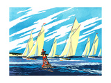 Sailing Ships - Jack & Jill Giclee Print by Wilmer H. Wickham