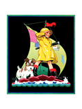 Look Out - Child Life Giclee Print by Keith Ward