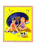 Summer Fun - Child Life Giclee Print by Janet Laura Scott