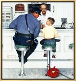 """Runaway"", September 20,1958 Framed Canvas Print by Norman Rockwell"