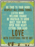 Be True Love Big Framed Canvas Print by Lisa Weedn
