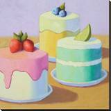 Sweet Trio Stretched Canvas Print by Patricia Doherty