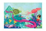 Hidden Ocean Treasures - Jack & Jill Giclée-tryk af Elisa Chavarri