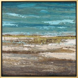 Abstract Sea 1 Framed Canvas Print by Dennis Dascher