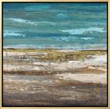 Abstract Sea 1 Framed Canvas Print by Dennis Dascher