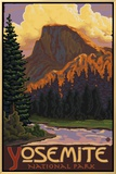 Half Dome, Yosemite National Park, California Framed Canvas Print