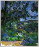 Blue Landscape, 1904-1906 Framed Canvas Print by Paul Cézanne