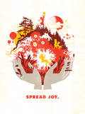 Spread Joy Reproduction procédé giclée par Brad Davis