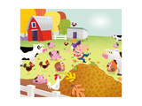 Time to Count - Farmyard - Turtle Giclee Print by Rob McClurkan