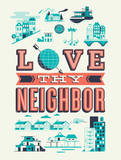 Love Thy Neighbor Giclee Print by Brian Hurst
