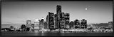 Buildings at the Waterfront, River Detroit, Detroit, Michigan, USA Framed Canvas Print by Panoramic Images