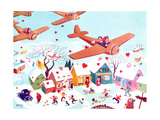 Valentines Flyers - Jack & Jill Giclee Print by Michael Berry