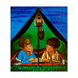 Camping - Child Life Giclee Print by Joy Friedman