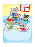 Three Little Kittens - Turtle Giclee Print by Elisa Chavarri