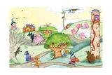Wacky Fairy Tales - Humpty Dumpty Giclee Print by Marsha Winborn